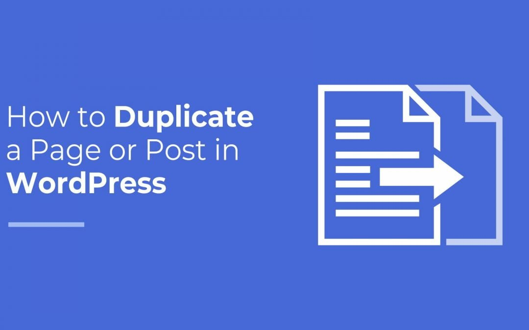 duplicate page or post in wp